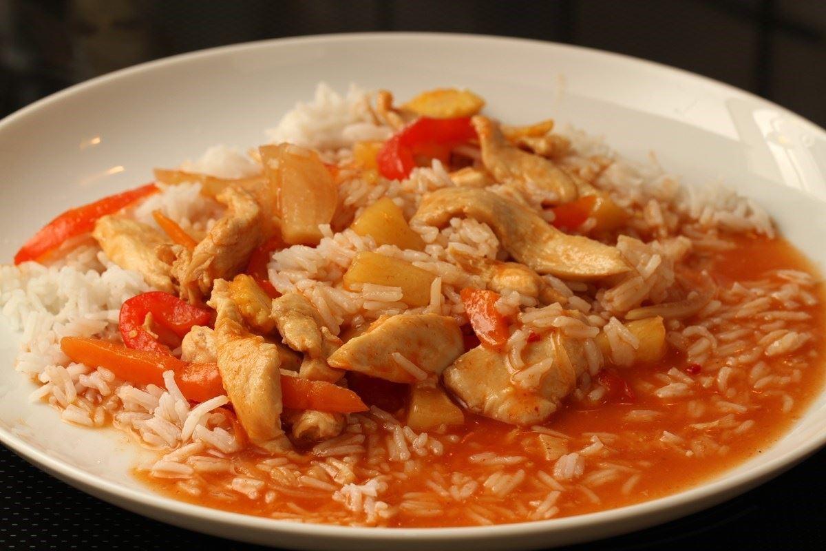 kylling ris opskrift
