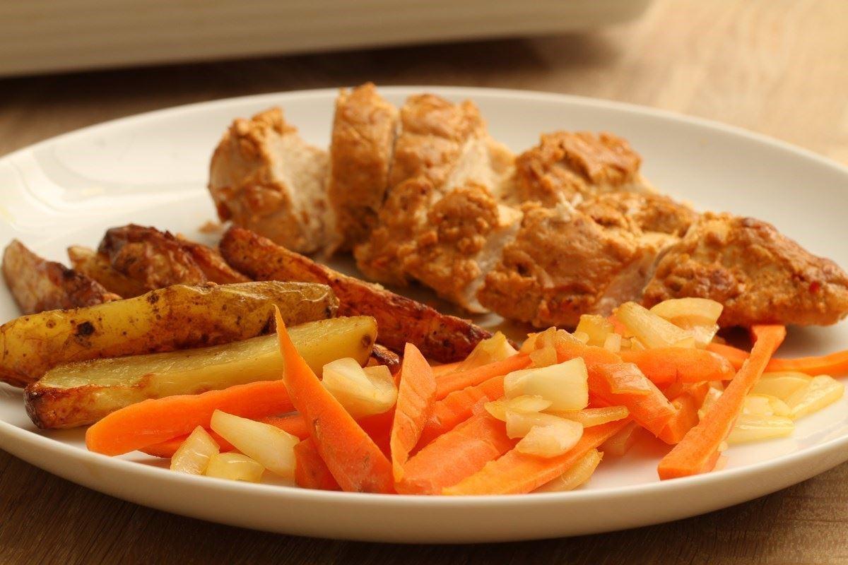 Tikka Kylling Med Ovnbagte Kartofler Madopskrifternu