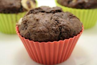 Muffins med tredobbelt chokolade