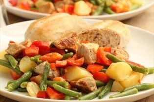Kartoffelsalat med skinke