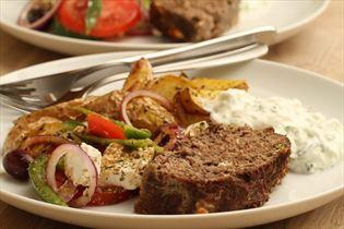 Græsk farsbrød med tzatziki