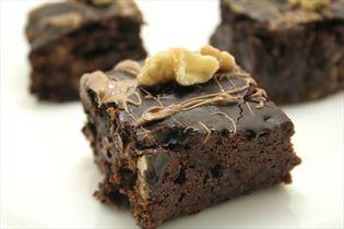 Brownies med valnødder
