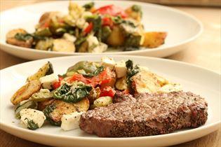 Steaks med varm kartoffelsalat