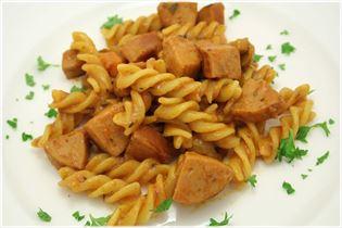Vild pølsegryde med pasta