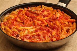 Kyllingefad med pasta
