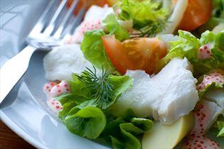 Torskesalat med stenbiderrogn