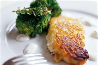 Kartoffelmørksej med limedressing