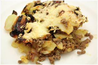 Kartoffelfad med hakket oksekød