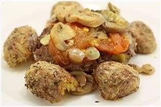 Bøf i folie med ovnstegte kartofler