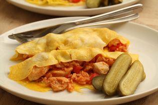 Kyllinge omelet med ris