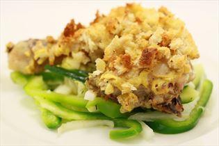 Pollo diavolo med salat