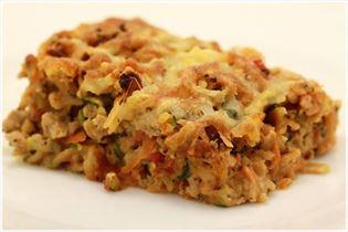 Kyllingelasagne med pasta og grøntsager