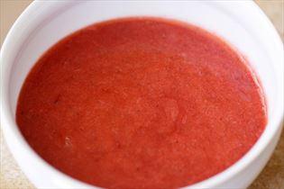 Jordbær-rabarber grød
