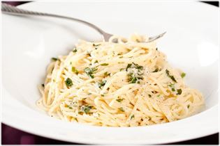 Pasta simple med parmesan