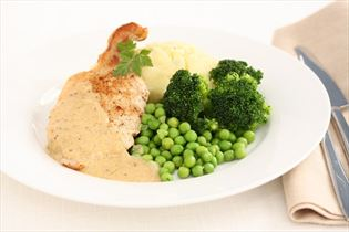 Koteletter i sennepssauce