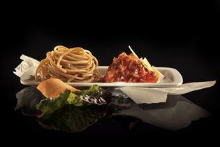 Pasta bolognese med rodfrugter