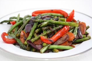 Stir fry grøntsager med østerssauce