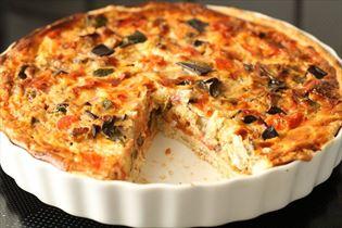 Provencalsk grønsagstærte med tomat og squash