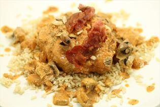 Paprika koteletter med brune ris