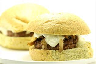 Svampe burger med mozarella