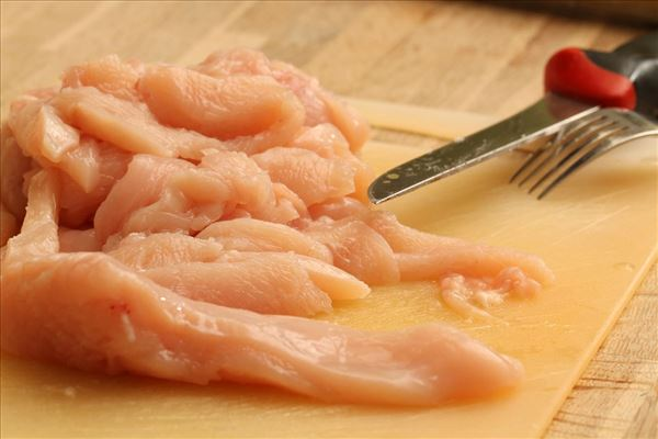 Kylling i karry med pasta