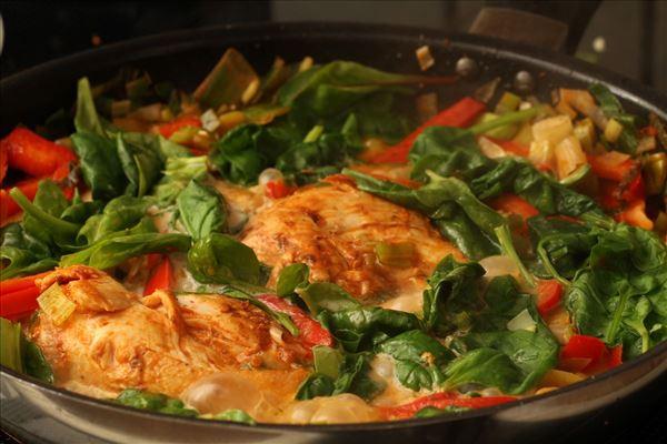Pesto kylling med frisk pasta