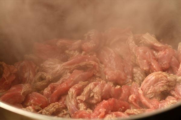 Bøf stroganoff med kartoffelmos