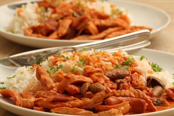 Gryderet med ris