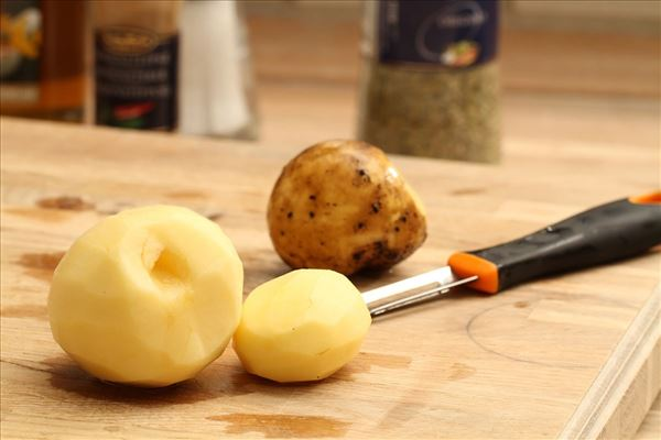 Æggekage i ovn med kartofler og skinke
