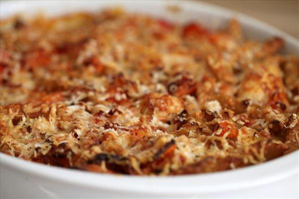 kylling og pasta i ovn