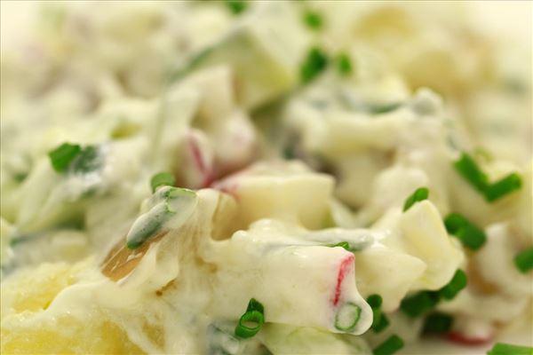 Kold kartoffelsalat med mayonnaise