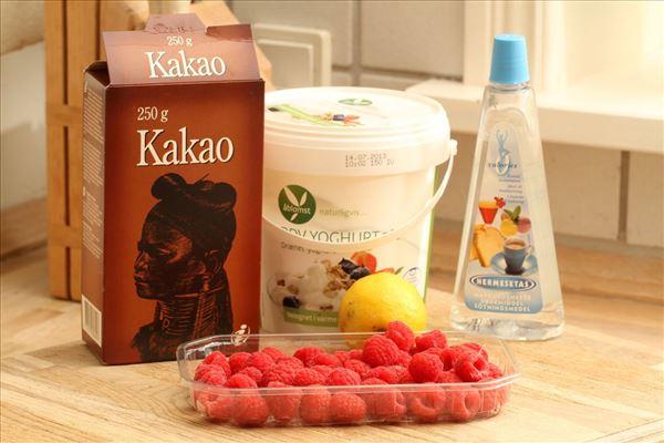 Choko-hindbærmousse