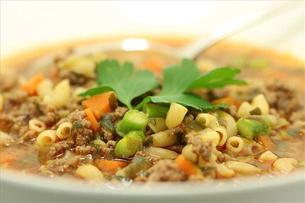 Krydret suppe med oksekød
