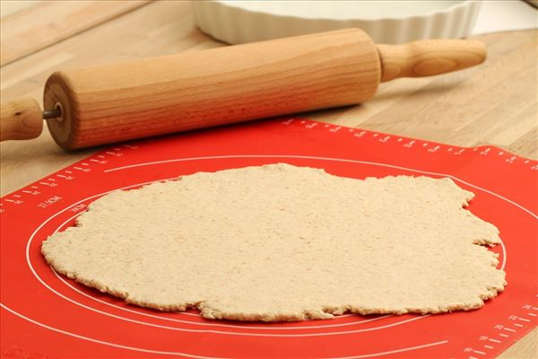 Fuldkorns spinattærte med hytteost
