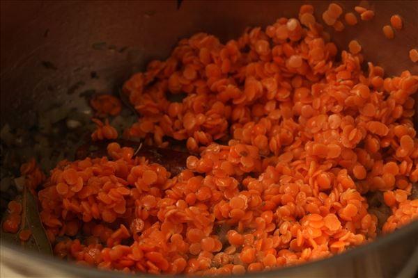 Linsesuppe med kanel og feta